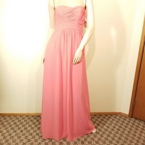 Donna Morgan Pink Sweetheart Gown Strapless Dress